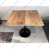solid wood coffee tablewith metal legs