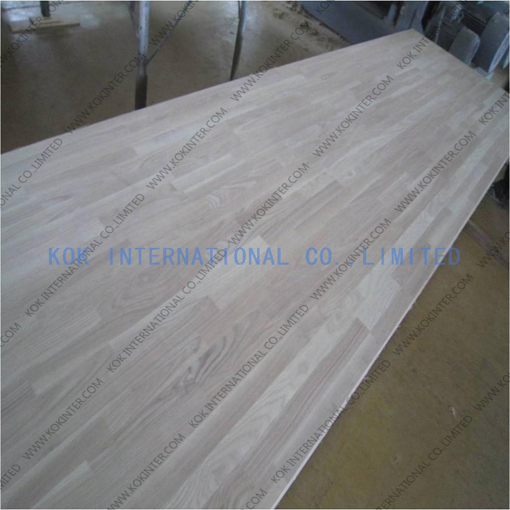 ash wood finger joint board panel for furniture worktop table tops butcher countertops