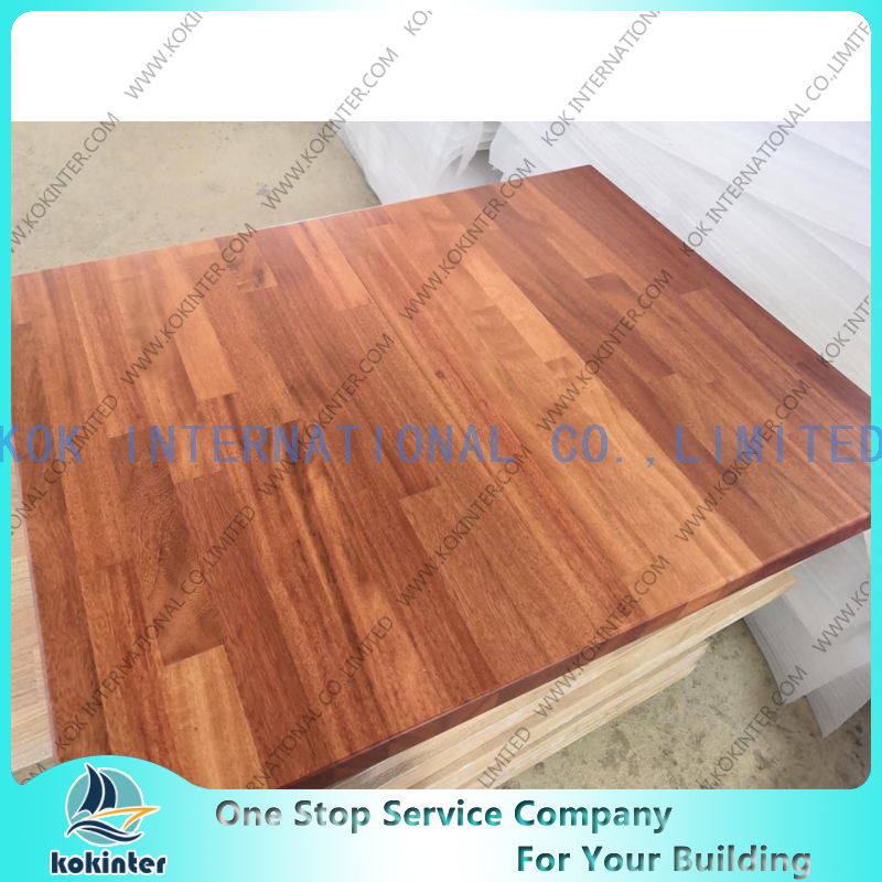 Acacia finger joint board panel for furniture worktop table tops butcher countertops
