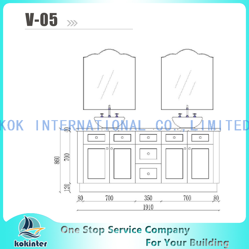 Bathroom cabinet Vanity set V05